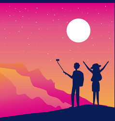 Wanderlust people travel vector