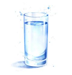 Watercolor glass water vector