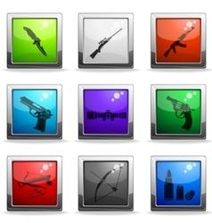Weapon symbols vector