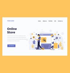 Web design flat modern concept - online store vector