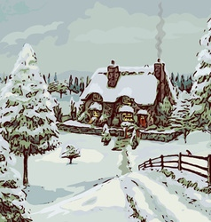Winter Cottage vector