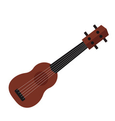 a small ukulele guitar isolated vector image