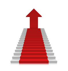 career ladder to the top vector image vector image