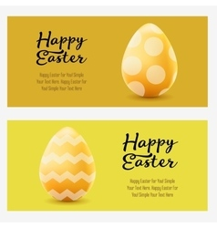 Happy Easter greeting horizontal landscape banners vector image vector image