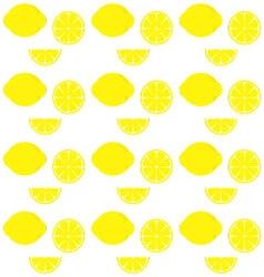 lemon patternCitrus pattern background vector image vector image