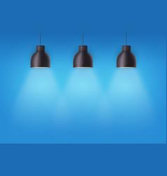 Retro metal stylish ceiling cone lamps vector