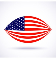 Stylish american flag for Independence day vector image vector image
