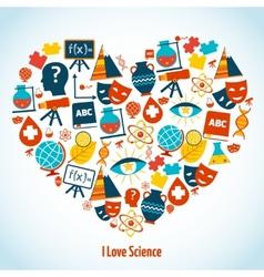 Education heart concept vector