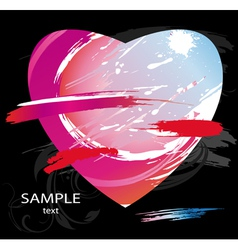 heart splashes vector image vector image