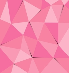 Pink polygon abstract triangle background vector image vector image