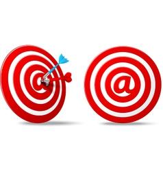 Social media red darts target aim vector