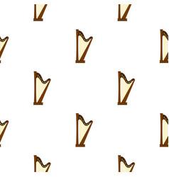 wooden harp pattern seamless vector image vector image