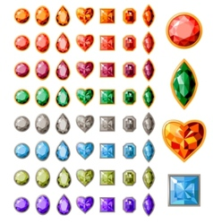 collection of different jewels vector image vector image