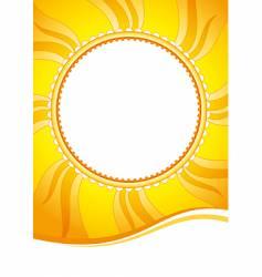 decorative sun vector image vector image