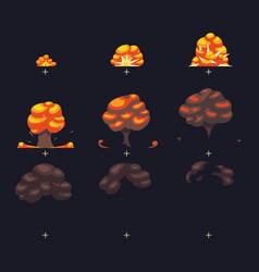 explosion war game blast fx animation vector image