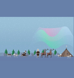 northern lights concept in vector image vector image