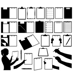 Set of different clipboards vector image vector image