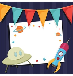 space party card vector image vector image
