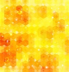 Yellow hexagon background image vector