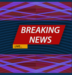 breaking news vector image vector image