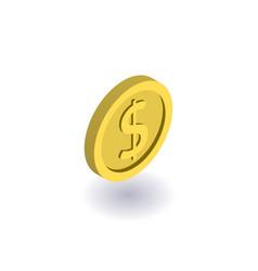 coin icon symbol vector image vector image