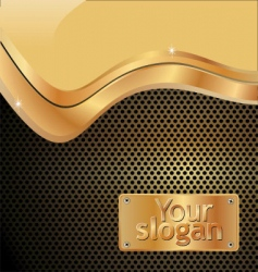 grated metal gold background vector image