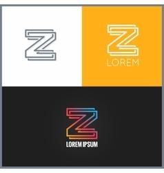 letter Z logo alphabet design icon background vector image vector image