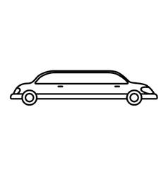 limousine icon transportation design vector image