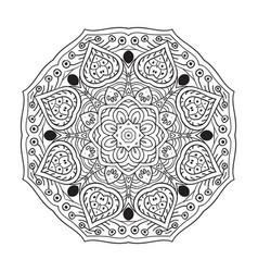mandala zentangl doodle drawing round coloring vector image vector image