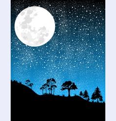 night-moon vector image vector image
