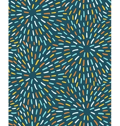 Seamless pattern with circular strokes vector image