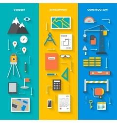 Set of conceptual vertical banners vector
