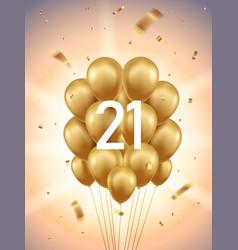 21st year anniversary background vector