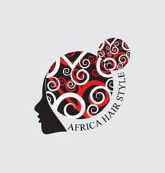african hair style logo vector image