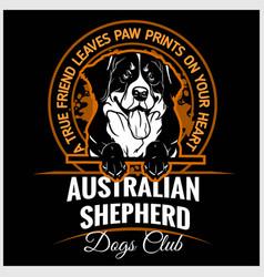 Australian shepherd - for t vector