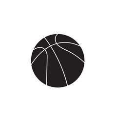 Basketball ball solid icon sport graphics vector