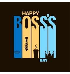 boss day holiday design background vector image