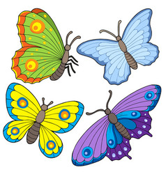 butterfly collection 2 vector image