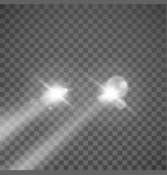 Car lights automobile headlight vector