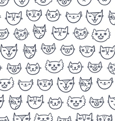 Cat faces seamless pattern vector