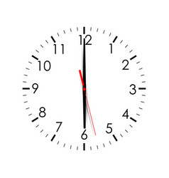 clock dial shows 600 isolated on white background vector image