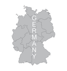 concept map of germany on white background vector image