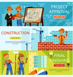 concept pictures of construction steps project of vector image