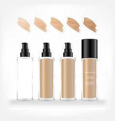 cosmetic transparent bottle vector image