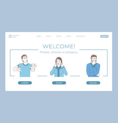 Counseling psychology and mental health landing vector