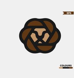 cute lion logo vector image