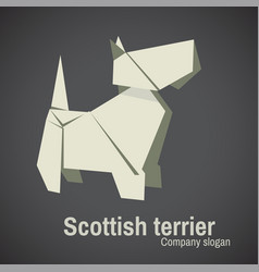 dog breed terrier origami vector image