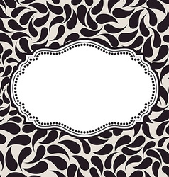 elegant background pattern Floral frame elements vector image
