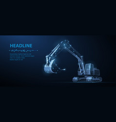 excavator abstract 3d excavator isolated vector image