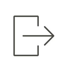 Exit door icon line logout symbol vector